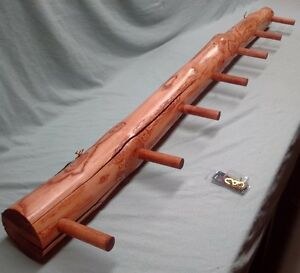 Manitoba Maple Log Coat Rack 7 Peg