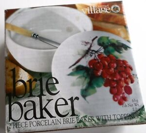 Porcelain Brie Baker (2pc) New in Box