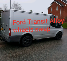"Swap ford transit van Alloy wheels 235/45r18 swap 4 15"" steels"