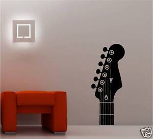 GIANT GUITAR  HEADSTOCK VINYL WALL ART STICKER MUSIC
