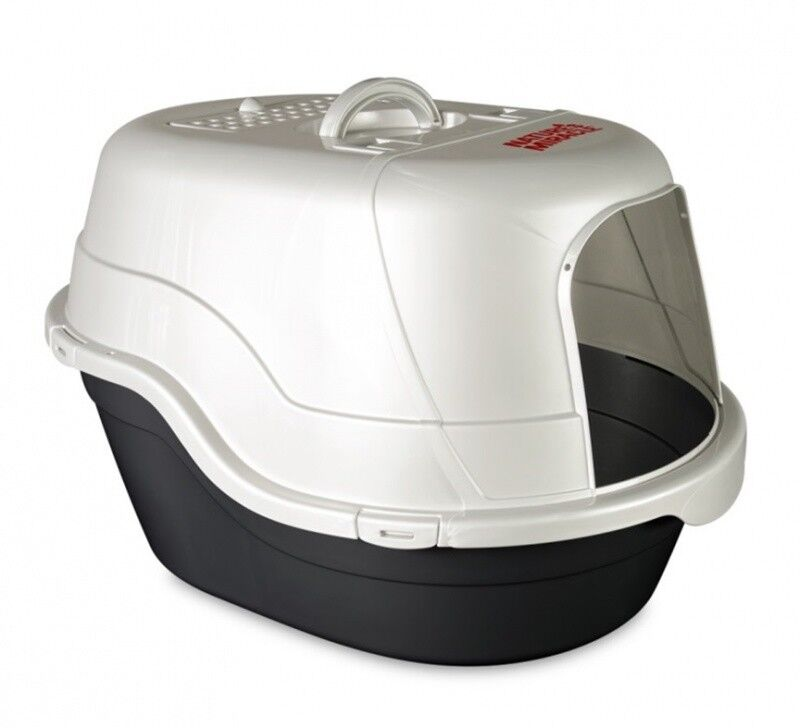 Nature's Miracle Oval Hooded Flip Top Litter Box, White