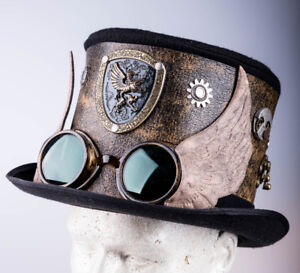 Steampunk Top Hat & Winged Goggles