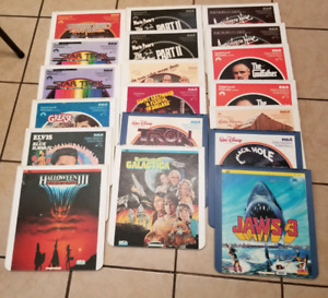 Collection of vintage videodisc movies HORROR etc