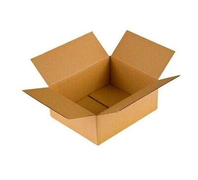 100 Cajas de cartón (20 x 15 x 6 cm) Kraft Canal Simple Para Envíos Postales