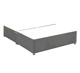 BRAND NEW GREY 4FT6 DOUBLE DIVAN BED BASES ON SALE LTD STOCK. IN GREY