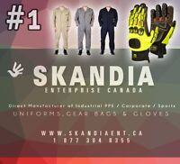 Custom Construction, Manufacturing and Industrial Gloves and Clo