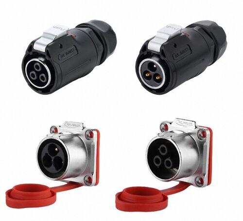 Select Pin 2 to 24 Pin LP24 Waterproof Aviation Connector Plug /& Square Socket