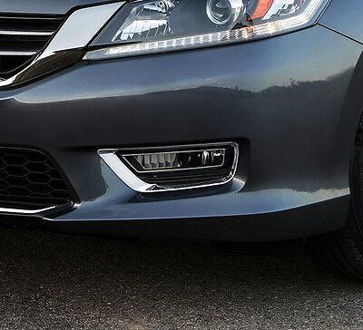 2pcs Chrome Molding Front fog Cover Trim for Honda Accord Sedan 2013 2014 2015