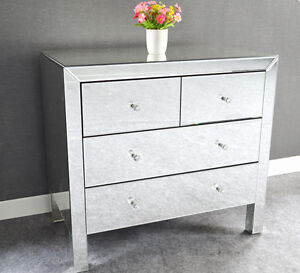 BRAND NEW 4 DRAWER MIRROR CONSOLE TABLE