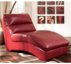 Ashley Furniture Red Chaise Lounge