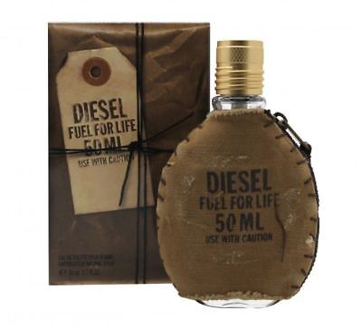 DIESEL FUEL FOR LIFE MEN 50ML EDT SPRAY NEW & SEALED