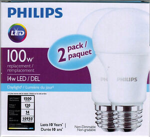Philips LED 2PK 14W equivalent to 100W