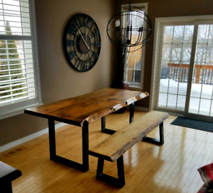 Superb Dining Tables Wood And Steel Kijiji In Ottawa Gatineau Home Interior And Landscaping Elinuenasavecom