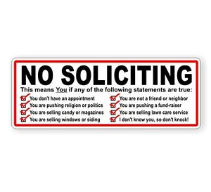 No-Soliciting-Vinyl-Decal-Sticker-Label-Solicitors-Solicit-Sign-Trespassing