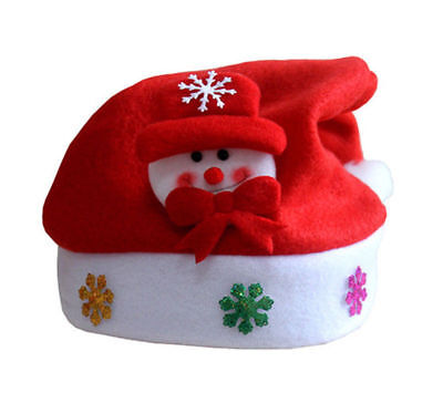 Cute Christmas Hats (Cute Kids Christmas Hat XMAS Santa Family Hats Gift For Children baby)