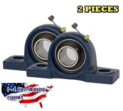 "UCP204-12 Pillow Block Bearing 3/4"" Bore 2 Bolt Solid Base (2PCS)"
