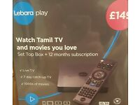 LEBARA PLAY Set Top Box with 12 months subscription, Brand new and sealed.