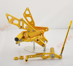 CNC Foot pegs rear set For Yamaha YZF R1 09-13 Gold > NEW