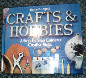 Knitting books, beading, woodworking