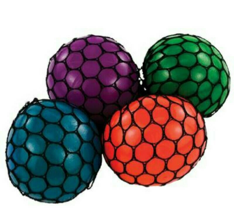 Mesh Squeeze Grape Ball Stress Relief Fun Toy School Gifts Great Party Favor