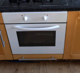White Built on Electric Oven