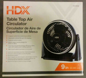 Convenient and powerful 9'' Table Top Fan