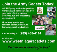 12 to 18 Years Old? Join the Army Cadets Today for FREE!