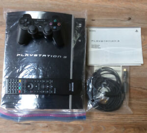 UNUSED PLAYSTATION 3 with 1 controller, manual and wires