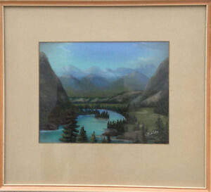 """Maisie  Wride, Canadian painting, """"The Bow Valley"""""""