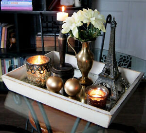 3 Decorative trays with accessories