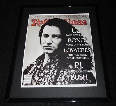 Bono U2 Framed March 9 1989 Rolling Stone Cover Display