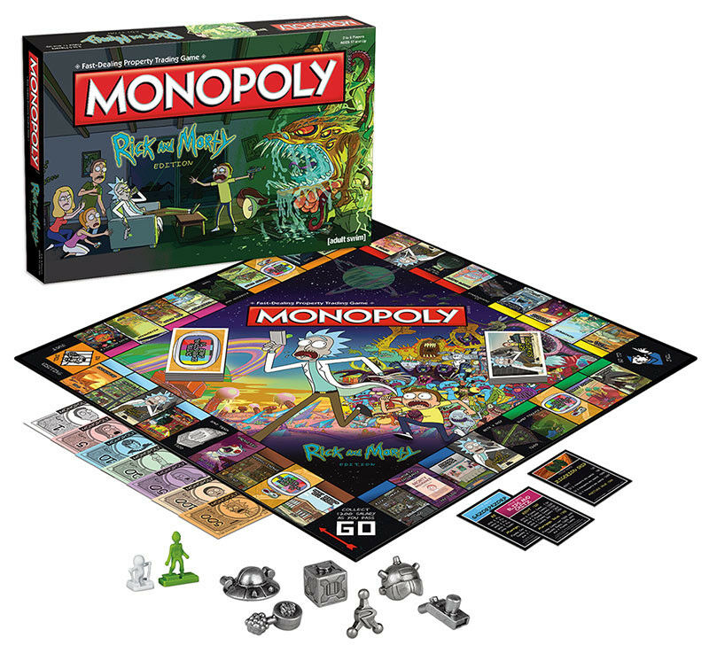 USAopoly MONOPOLY® Call Of Duty, IT, Guardians of The Galaxy, Warhammer  ... RickAndMorty