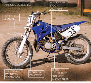 07 YZ 85 Flattrack bike for sale