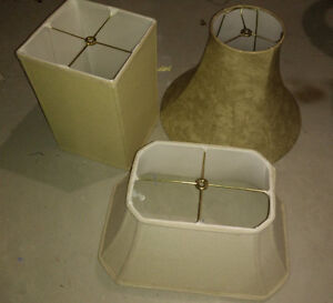 3 lamp shades, very good condition $ 4 EACH