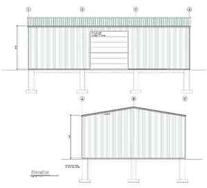 40'x60'x16' Engineered steel shed, complete