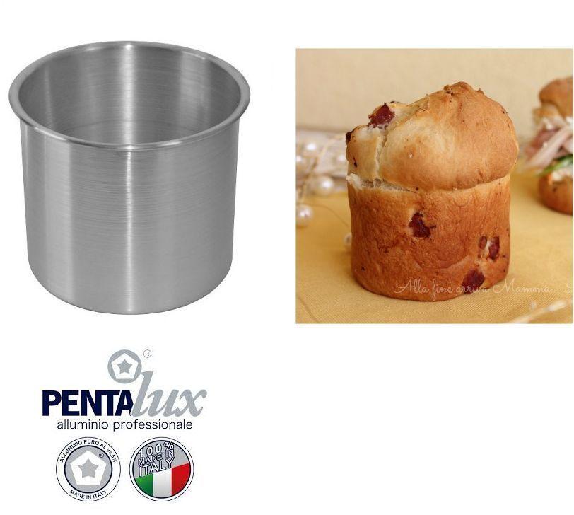 FORMA STAMPO RUOTO PAN BRIOCHE PANETTONE DOLCE SALATO 18/20 IN ALLUMINIO CUCINA