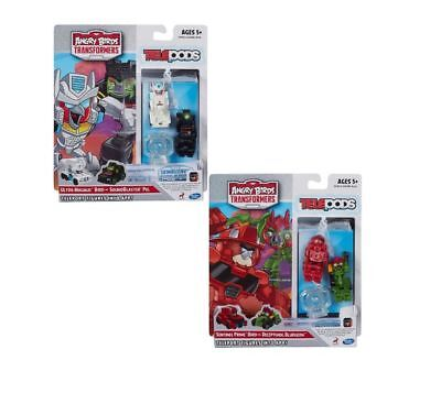 TELEPODS ANGRY BIRDS TRANSFORMERS SET OF 4 FIGURES