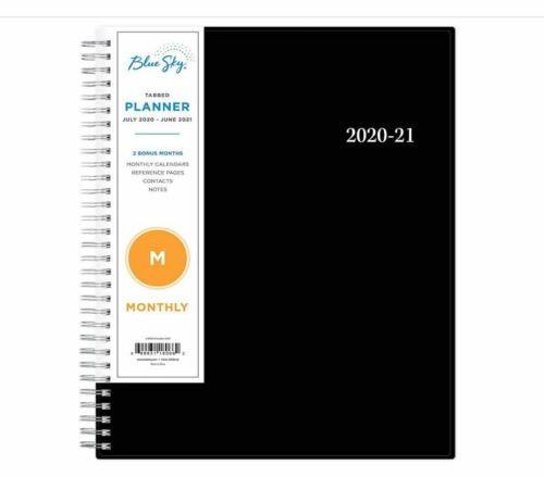 """Weekly Monthly Professional Planner 2020-2021 8"""" x 10"""" Calendar Twin-Wire"""