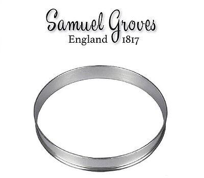 1x Samuel Groves Aluminium Flan Ring Tart Cake Pastry Baking Mould  - 4 sizes - Tart Pastry Ring