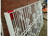 2 x Wrought iron panels for fencing or security bars