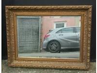 Vintage large gilt framed mirror