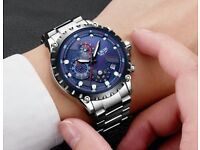 New Fashion Watch Men/Woman Full Steel Business Watch Date Chronograph 2018