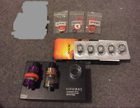 2 x Smok v8 Baby tanks 5 brand new m2 0.25 coils and accessories vape smoking vaping bargain!