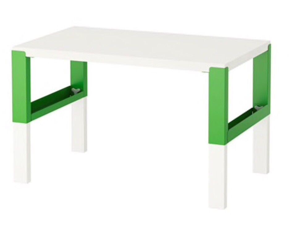 Ikea Pahl Child Desk White Green