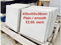 450x450mm plain/ smooth concrete paving slabs