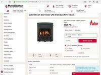 Valor Dream 05740N1 Gas Fire in Black BNIB
