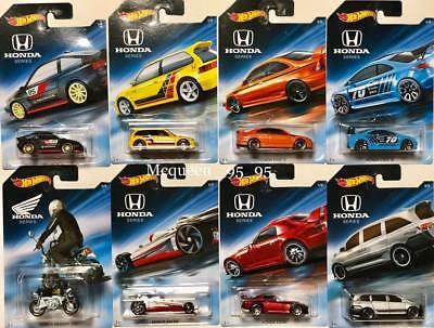 Hot Wheels 2018 Honda 70th Anniversary Complete Set of 8 Civic EF SI S2000 1/64