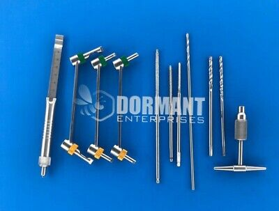 Quick Coupling Drill Bits Drill Guide Set Of 11 Pieces Orthopedic Instruments