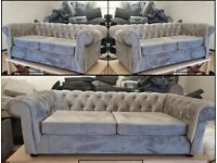 ¬¬ WHOLE SALE PRICES ¬¬ CHESTERFIELD PLUSH VELVET CORNER SOFA OR 3+2 SOFA SET AVAILABLE NOW