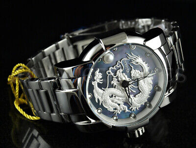 Invicta 47mm Speedway Automatic MOP Dial Dragon PEARL Silver High Polish Watch